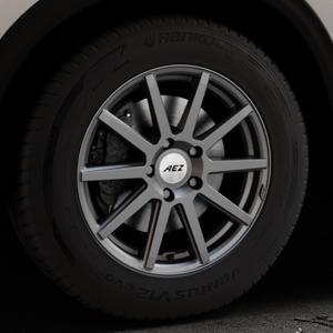 AEZ Straight Graphite matt Felge mit Reifen grau in 17Zoll Winterfelge Alufelge auf silbernem Mazda CX-5 Typ KF ⬇️ mit 15mm Tieferlegung ⬇️ Industriehalle 1 Thumbnail