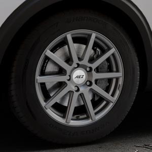 AEZ Straight Graphite matt Felge mit Reifen grau in 17Zoll Winterfelge Alufelge auf silbernem Peugeot 5008 Typ M ⬇️ mit 15mm Tieferlegung ⬇️ Industriehalle 1 Thumbnail