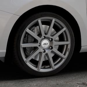 AEZ Straight Graphite matt Felge mit Reifen grau in 17Zoll Winterfelge Alufelge auf silbernem Skoda Fabia III Typ 5J ⬇️ mit 15mm Tieferlegung ⬇️ Industriehalle 1 Thumbnail