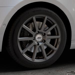 AEZ Straight Graphite matt Felge mit Reifen grau in 17Zoll Winterfelge Alufelge auf silbernem Skoda Octavia III Kombi Typ 5E ⬇️ mit 15mm Tieferlegung ⬇️ Industriehalle 1 Thumbnail