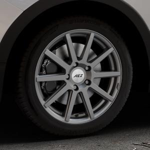 AEZ Straight Graphite matt Felge mit Reifen grau in 17Zoll Winterfelge Alufelge auf silbernem Ssangyong Tivoli Typ XK ⬇️ mit 15mm Tieferlegung ⬇️ Industriehalle 1 Thumbnail