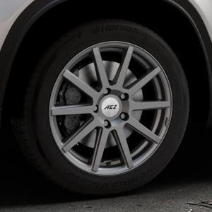 AEZ Straight Graphite matt Felge mit Reifen grau in 17Zoll Winterfelge Alufelge auf silbernem Suzuki Vitara Typ LY ⬇️ mit 15mm Tieferlegung ⬇️ Industriehalle 1 Thumbnail