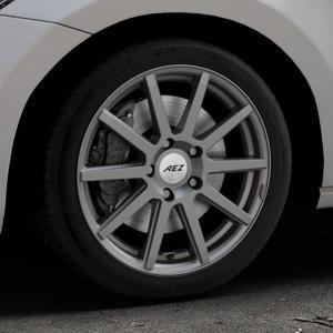 AEZ Straight Graphite matt Felge mit Reifen grau in 17Zoll Winterfelge Alufelge auf silbernem Volkswagen (VW) Touran III Typ 1T (15->) ⬇️ mit 15mm Tieferlegung ⬇️ Industriehalle 1 Thumbnail