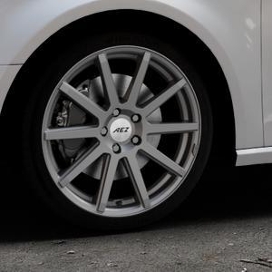 AEZ Straight Graphite matt Felge mit Reifen grau in 18Zoll Winterfelge Alufelge auf silbernem Audi A3 Typ 8V ⬇️ mit 15mm Tieferlegung ⬇️ Industriehalle 1 Thumbnail