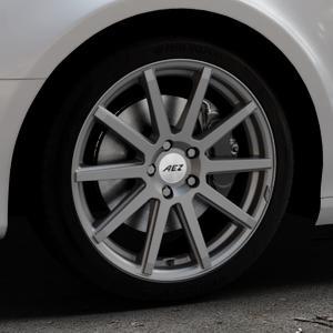 AEZ Straight Graphite matt Felge mit Reifen grau in 18Zoll Winterfelge Alufelge auf silbernem Audi A4 Typ 8K5/B8 (Avant) ⬇️ mit 15mm Tieferlegung ⬇️ Industriehalle 1 Thumbnail