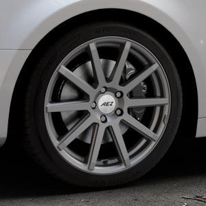 AEZ Straight Graphite matt Felge mit Reifen grau in 18Zoll Winterfelge Alufelge auf silbernem Audi A4 Typ B9 (Limousine) ⬇️ mit 15mm Tieferlegung ⬇️ Industriehalle 1 Thumbnail