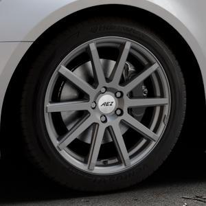 AEZ Straight Graphite matt Felge mit Reifen grau in 18Zoll Winterfelge Alufelge auf silbernem Audi A6 Typ 4G/C7 (Avant) Facelift ⬇️ mit 15mm Tieferlegung ⬇️ Industriehalle 1 Thumbnail