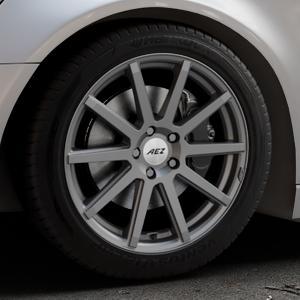 AEZ Straight Graphite matt Felge mit Reifen grau in 18Zoll Winterfelge Alufelge auf silbernem Audi A6 Typ 4G/C7 (Avant) ⬇️ mit 15mm Tieferlegung ⬇️ Industriehalle 1 Thumbnail