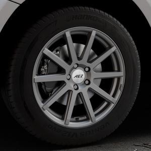 AEZ Straight Graphite matt Felge mit Reifen grau in 18Zoll Winterfelge Alufelge auf silbernem Audi Q5 I Typ 8R ⬇️ mit 15mm Tieferlegung ⬇️ Industriehalle 1 Thumbnail