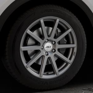 AEZ Straight Graphite matt Felge mit Reifen grau in 18Zoll Winterfelge Alufelge auf silbernem Audi Q5 II Typ FY ⬇️ mit 15mm Tieferlegung ⬇️ Industriehalle 1 Thumbnail