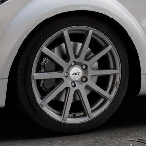 AEZ Straight Graphite matt Felge mit Reifen grau in 18Zoll Winterfelge Alufelge auf silbernem Audi TT II Typ 8J (Roadster) ⬇️ mit 15mm Tieferlegung ⬇️ Industriehalle 1 Thumbnail