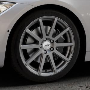 AEZ Straight Graphite matt Felge mit Reifen grau in 18Zoll Winterfelge Alufelge auf silbernem BMW 420d Typ F32 (Coupé) 428i xDrive 435i 430d 420i 435d 425d F36 (Gran Coupe) 418d 418i 430i 440i ⬇️ mit 15mm Tieferlegung ⬇️ Industriehalle 1 Thumbnail