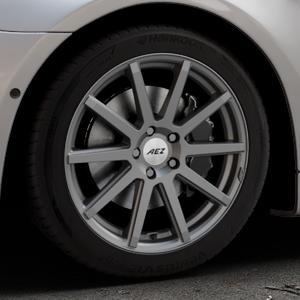 AEZ Straight Graphite matt Felge mit Reifen grau in 18Zoll Winterfelge Alufelge auf silbernem BMW 640i Typ F12 (Cabrio) 640d 650i xDrive ⬇️ mit 15mm Tieferlegung ⬇️ Industriehalle 1 Thumbnail