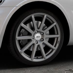 AEZ Straight Graphite matt Felge mit Reifen grau in 18Zoll Winterfelge Alufelge auf silbernem Chrysler PT Cruiser Cabriolet ⬇️ mit 15mm Tieferlegung ⬇️ Industriehalle 1 Thumbnail