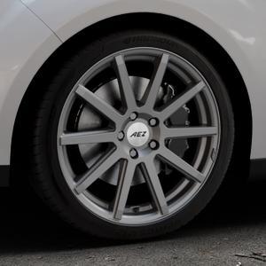 AEZ Straight Graphite matt Felge mit Reifen grau in 18Zoll Winterfelge Alufelge auf silbernem Ford C-Max II Typ DXA (10->) ⬇️ mit 15mm Tieferlegung ⬇️ Industriehalle 1 Thumbnail