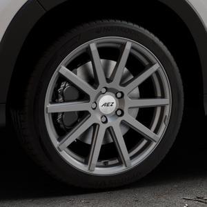 AEZ Straight Graphite matt Felge mit Reifen grau in 18Zoll Winterfelge Alufelge auf silbernem Honda HR-V II (RU) ⬇️ mit 15mm Tieferlegung ⬇️ Industriehalle 1 Thumbnail