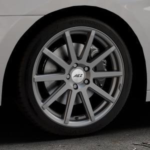 AEZ Straight Graphite matt Felge mit Reifen grau in 18Zoll Winterfelge Alufelge auf silbernem Hyundai i40 Typ VF Limousine Kombi Facelift ⬇️ mit 15mm Tieferlegung ⬇️ Industriehalle 1 Thumbnail