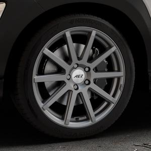 AEZ Straight Graphite matt Felge mit Reifen grau in 18Zoll Winterfelge Alufelge auf silbernem Hyundai Kona Typ OS ⬇️ mit 15mm Tieferlegung ⬇️ Industriehalle 1 Thumbnail