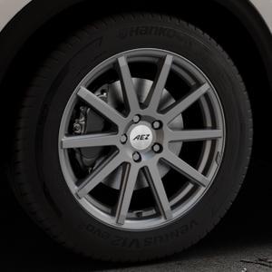 AEZ Straight Graphite matt Felge mit Reifen grau in 18Zoll Winterfelge Alufelge auf silbernem Mazda CX-5 Typ KF ⬇️ mit 15mm Tieferlegung ⬇️ Industriehalle 1 Thumbnail