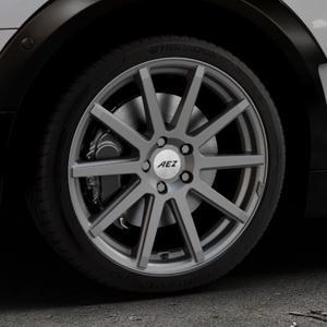 AEZ Straight Graphite matt Felge mit Reifen grau in 18Zoll Winterfelge Alufelge auf silbernem Mini F54 Typ UKL-L (Clubman) FMK ⬇️ mit 15mm Tieferlegung ⬇️ Industriehalle 1 Thumbnail