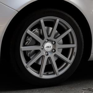 AEZ Straight Graphite matt Felge mit Reifen grau in 18Zoll Winterfelge Alufelge auf silbernem Opel Insignia I Sports Tourer Facelift ⬇️ mit 15mm Tieferlegung ⬇️ Industriehalle 1 Thumbnail
