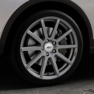 AEZ Straight Graphite matt Felge mit Reifen grau in 18Zoll Winterfelge Alufelge auf silbernem Seat Arona Typ KJ ⬇️ mit 15mm Tieferlegung ⬇️ Industriehalle 1 Thumbnail