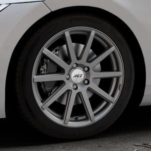AEZ Straight Graphite matt Felge mit Reifen grau in 18Zoll Winterfelge Alufelge auf silbernem Volkswagen (VW) Arteon Typ 3H ⬇️ mit 15mm Tieferlegung ⬇️ Industriehalle 1 Thumbnail