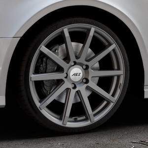 AEZ Straight Graphite matt Felge mit Reifen grau in 19Zoll Winterfelge Alufelge auf silbernem Audi A3 Typ 8V (Limousine) Facelift ⬇️ mit 15mm Tieferlegung ⬇️ Industriehalle 1 Thumbnail