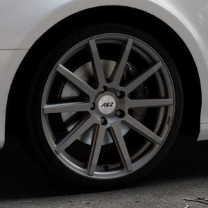 AEZ Straight Graphite matt Felge mit Reifen grau in 19Zoll Winterfelge Alufelge auf silbernem Audi A4 Typ 8K5/B8 (Avant) ⬇️ mit 15mm Tieferlegung ⬇️ Industriehalle 1 Thumbnail