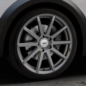 AEZ Straight Graphite matt Felge mit Reifen grau in 19Zoll Winterfelge Alufelge auf silbernem Audi A4 Typ B9 Allroad ⬇️ mit 15mm Tieferlegung ⬇️ Industriehalle 1 Thumbnail