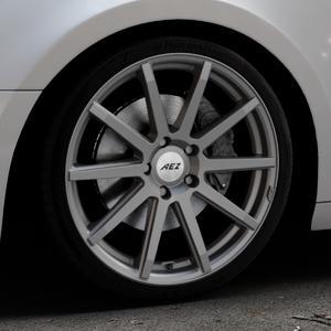 AEZ Straight Graphite matt Felge mit Reifen grau in 19Zoll Winterfelge Alufelge auf silbernem Audi A4 Typ B9 (Avant) ⬇️ mit 15mm Tieferlegung ⬇️ Industriehalle 1 Thumbnail