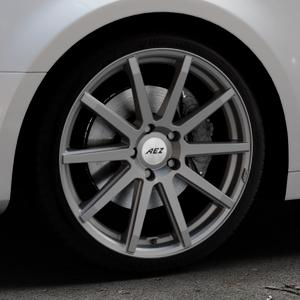 AEZ Straight Graphite matt Felge mit Reifen grau in 19Zoll Winterfelge Alufelge auf silbernem Audi A4 Typ B9 (Limousine) ⬇️ mit 15mm Tieferlegung ⬇️ Industriehalle 1 Thumbnail