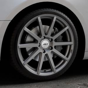 AEZ Straight Graphite matt Felge mit Reifen grau in 19Zoll Winterfelge Alufelge auf silbernem Audi A5 Typ B9 (Coupé) (Cabriolet) ⬇️ mit 15mm Tieferlegung ⬇️ Industriehalle 1 Thumbnail