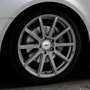 AEZ Straight Graphite matt Felge mit Reifen grau in 19Zoll Winterfelge Alufelge auf silbernem Audi A6 Typ 4G/C7 (Avant) Facelift ⬇️ mit 15mm Tieferlegung ⬇️ Industriehalle 1 Thumbnail