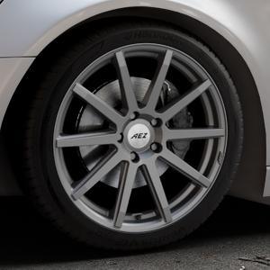 AEZ Straight Graphite matt Felge mit Reifen grau in 19Zoll Winterfelge Alufelge auf silbernem Audi A6 Typ 4G/C7 (Avant) ⬇️ mit 15mm Tieferlegung ⬇️ Industriehalle 1 Thumbnail