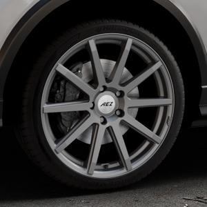 AEZ Straight Graphite matt Felge mit Reifen grau in 19Zoll Winterfelge Alufelge auf silbernem Audi Q2 Typ GA ⬇️ mit 15mm Tieferlegung ⬇️ Industriehalle 1 Thumbnail