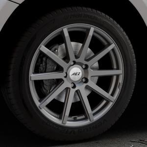 AEZ Straight Graphite matt Felge mit Reifen grau in 19Zoll Winterfelge Alufelge auf silbernem Audi Q5 I Typ 8R ⬇️ mit 15mm Tieferlegung ⬇️ Industriehalle 1 Thumbnail