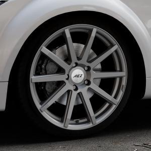 AEZ Straight Graphite matt Felge mit Reifen grau in 19Zoll Winterfelge Alufelge auf silbernem Audi TT II Typ 8J (Roadster) ⬇️ mit 15mm Tieferlegung ⬇️ Industriehalle 1 Thumbnail