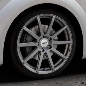 AEZ Straight Graphite matt Felge mit Reifen grau in 19Zoll Winterfelge Alufelge auf silbernem Audi TT III Typ 8S (Coupé) (Roadster) ⬇️ mit 15mm Tieferlegung ⬇️ Industriehalle 1 Thumbnail