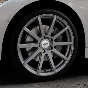 AEZ Straight Graphite matt Felge mit Reifen grau in 19Zoll Winterfelge Alufelge auf silbernem BMW 320i Typ F30 (Limousine) 328i 335i 320d 318d 316d 316i 330d xDrive EffDyn Edition 325d 335d ActiveHybrid 318i ⬇️ mit 15mm Tieferlegung ⬇️ Industriehalle 1 Thumbnail