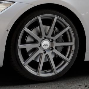 AEZ Straight Graphite matt Felge mit Reifen grau in 19Zoll Winterfelge Alufelge auf silbernem BMW 418d Typ F36 (Gran Coupe) 420d xDrive 420i 428i 435i 430d 440i 418i 430i 425d ⬇️ mit 15mm Tieferlegung ⬇️ Industriehalle 1 Thumbnail