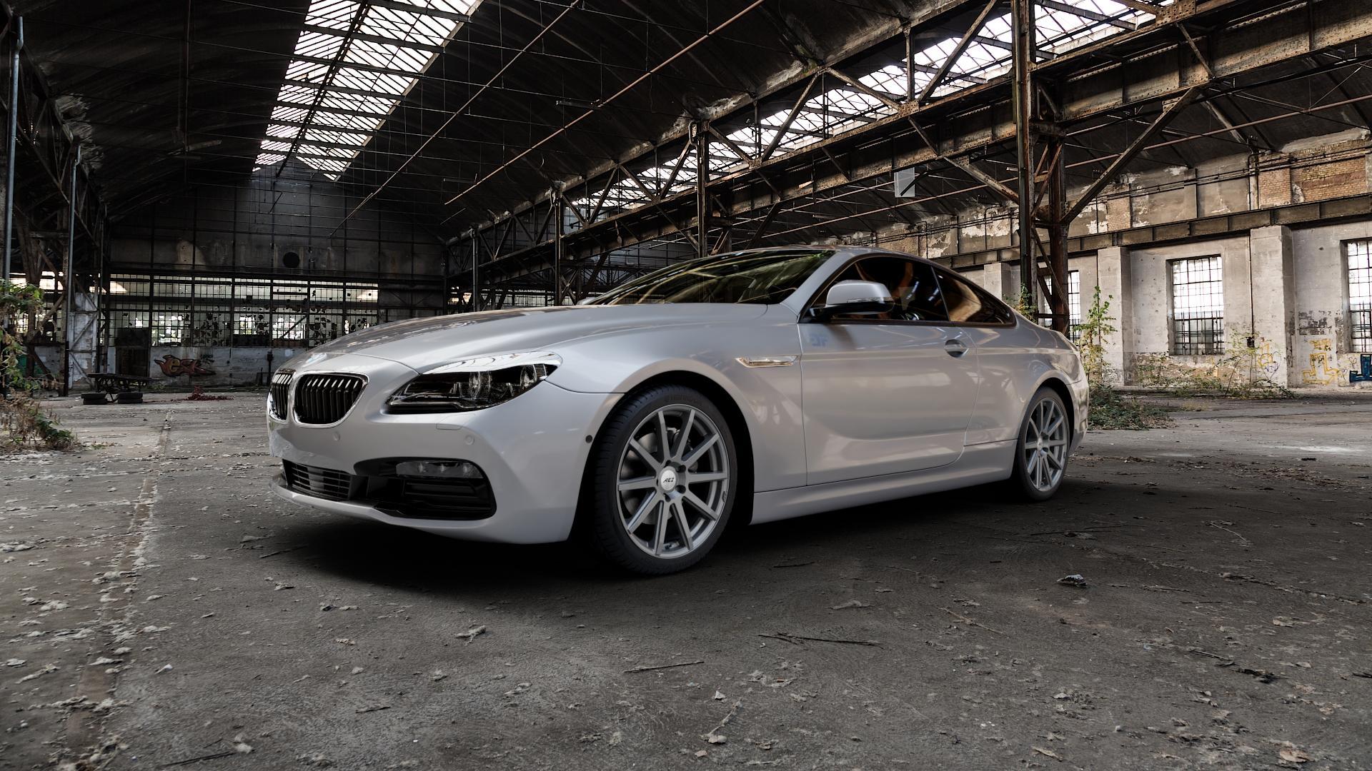 AEZ Straight Graphite matt Felge mit Reifen grau in 19Zoll Winterfelge Alufelge auf silbernem BMW 640i Typ F13 (Coupe) 650i 640d xDrive ⬇️ mit 15mm Tieferlegung ⬇️ Industriehalle 1 Camera_000