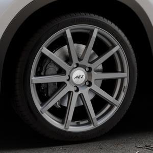 AEZ Straight Graphite matt Felge mit Reifen grau in 19Zoll Winterfelge Alufelge auf silbernem BMW X1 Typ F48 (UKL-L) (F1X) ⬇️ mit 15mm Tieferlegung ⬇️ Industriehalle 1 Thumbnail