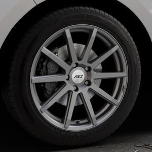 AEZ Straight Graphite matt Felge mit Reifen grau in 19Zoll Winterfelge Alufelge auf silbernem Ford Edge Typ SBF ⬇️ mit 15mm Tieferlegung ⬇️ Industriehalle 1 Thumbnail
