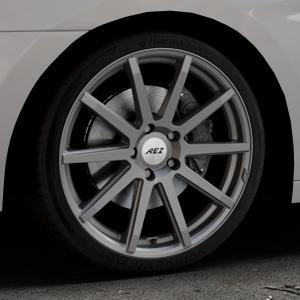 AEZ Straight Graphite matt Felge mit Reifen grau in 19Zoll Winterfelge Alufelge auf silbernem Hyundai i40 Typ VF Limousine Kombi Facelift ⬇️ mit 15mm Tieferlegung ⬇️ Industriehalle 1 Thumbnail