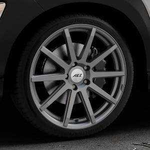 AEZ Straight Graphite matt Felge mit Reifen grau in 19Zoll Winterfelge Alufelge auf silbernem Hyundai Kona Typ OS ⬇️ mit 15mm Tieferlegung ⬇️ Industriehalle 1 Thumbnail