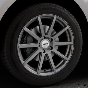 AEZ Straight Graphite matt Felge mit Reifen grau in 19Zoll Winterfelge Alufelge auf silbernem Jaguar F-Pace Typ DC ⬇️ mit 15mm Tieferlegung ⬇️ Industriehalle 1 Thumbnail