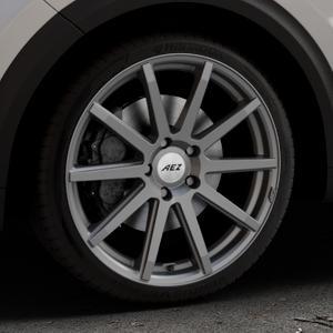 AEZ Straight Graphite matt Felge mit Reifen grau in 19Zoll Winterfelge Alufelge auf silbernem Kia Niro Typ DE ⬇️ mit 15mm Tieferlegung ⬇️ Industriehalle 1 Thumbnail