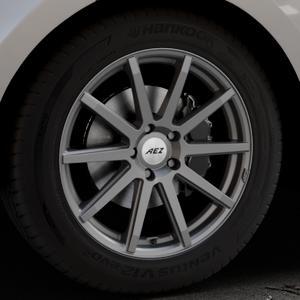 AEZ Straight Graphite matt Felge mit Reifen grau in 19Zoll Winterfelge Alufelge auf silbernem Land Rover Range Velar Typ LY ⬇️ mit 15mm Tieferlegung ⬇️ Industriehalle 1 Thumbnail