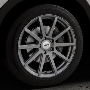 AEZ Straight Graphite matt Felge mit Reifen grau in 19Zoll Winterfelge Alufelge auf silbernem Mazda CX-5 Typ KE ⬇️ mit 15mm Tieferlegung ⬇️ Industriehalle 1 Thumbnail